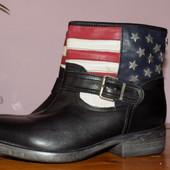 Кожа. фирма. качество. стильные ботинки Max 39 р сост отличн