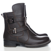 Женские коричневые демисезонные ботинки