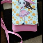 Прикольная детская сумочка, розовая, новая