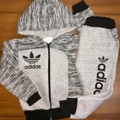Теплый спортивный костюм детский с начесом.код 0492