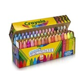 Crayola Подарочный набор смываемый мел для асфальта 64 цвета washable sidewalk chalk 64 pack