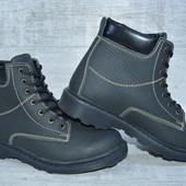 Кожаные ботинки с натуральным мехом, распродажа