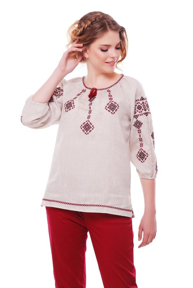 Блуза жіноча іванна (льон сірий) фото №1