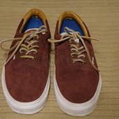 Фирменные кеды из натуральной замши сливового цвета Vans California US 10 р.