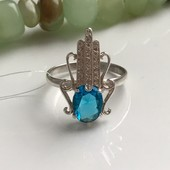 Кольцо серебряное Рука Фатимы