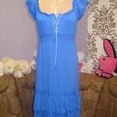 Аквамаринове платтячко коттонове,розмір М
