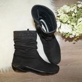 (38р./25см) Wolky! Кожа/нубук! Комфортные базовые ботинки с голенищем-сборкой на низком ходу