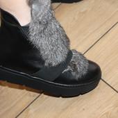 Зима ,ботинки  натуральная кожа с опушкой, с 36 40р