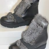 Зима ,ботинки  натуральная кожа с натуральной опушкой, с 36-40р