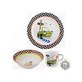 Детский набор посуды Limited Edition Funny Car 3 предмета