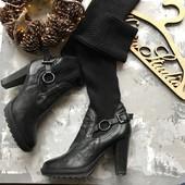 Стильные ботинки ботфорты с гетрами рр 38