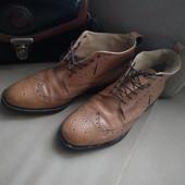 Фірмені шкіряні чоловічі черевики броги рр 41