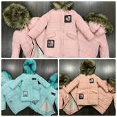 Нежная теплая курточка-пальто на девочку. Синтепон 300. Зима