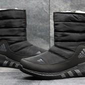 Сапоги зимние женские Adidas black