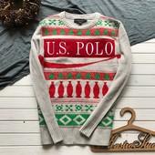 Новогодний мужской свитер Polo оригинал рр М