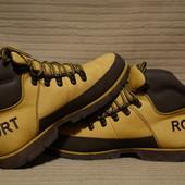 Классные эффектные фирменные желтые кожаные ботинки Rockport XCS сша. 9
