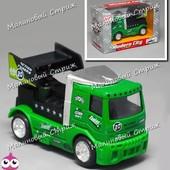 Инерционная металлическая машинка, грузовик, грузовая машина, 9 см