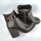 Зимние  ботинки на каблуку натуральная кожа 37-40р