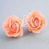 Серьги цветы Розы