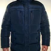 Зимняя куртка больших размеров, для крупных мужчин со сьемным капюшоном