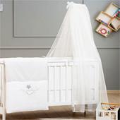 Балдахин к кроватке White Funna Baby 9999 Турция белый 12126061