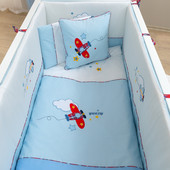 Комплект постельного белья Pilot (7 Предмета) Funna Baby 5601 Турция бело-голубой 12126045