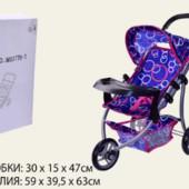 Кукольная коляска Melogo M9377B-T