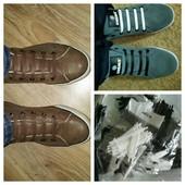 Три упаковки силиконовые шнурки по 12шт чёрный белый и коричневый