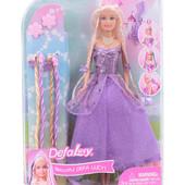 Кукла DEFA Принцесса 8182 с косичками и заколками