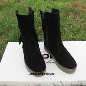 Удобные полусапожки, натур. замша, ТМ Солди -люксовая обувь