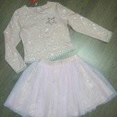 Красивый костюм платье фатин к праздникам 116-134 разные расцветки