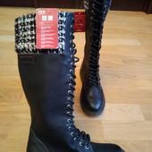 S.Oliver Tex membrane система.Високі чоботи євро-зима 37 р-р і устілка 24 см.