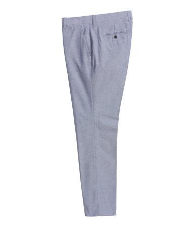 Костюмные брюки slim fit, h&m, xs фото №1