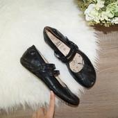 (39р./25,5см) Caprice! Кожа! Красивые базовые туфли на низком ходу с ремешками