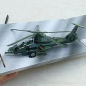 Большой вертолет метал резина пластик