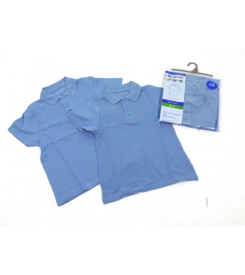 Голубые футболки-поло nutmeg из англии на 4-5, 11-12,12-13 лет фото №1