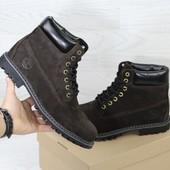 Зимние мужские ботинки Timberland dark brown