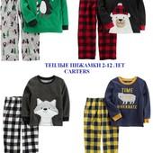 Теплая пижама картерс 2-12лет carters,пiжами,пiжама,флисовая,флис,слип