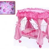 Кроватка для кукол 9350 / 015 железная