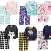 Теплые пижамы Carters 2-12 ЛЕТ картерс,подарок,новогодняя,пижама,слипы