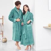 Шикарный Махровый банный халат унисекс Tchibo М и XL