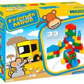 Конструктор Friends on the move 33 ел, ТМ Wader 54300