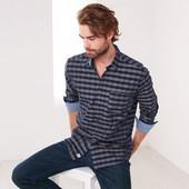 шикарная мужская рубашка Тсм Tchibo. XL ворот 43-44