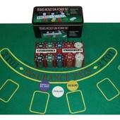 Настольная игра покер 200 и 240 фишек с номиналом и без