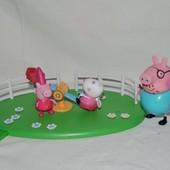 овечка Сьюзи фея и свинка Пеппа фея папа Свин платформа карусель оригинальные фигурки Peppa Pig