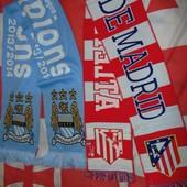 Фирменние оригинал футбольние шарфи .Атлетик и Манчестер Сити .
