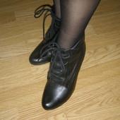 Демисезонные кожаные ботинки, ботильоны Aldo 37-36размер стелька 24см