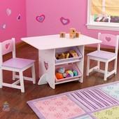 Столик с ящиками и 2 стульчика KidKraft 26913 Heart