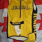Спортивная фирменная велофутболка майка +бандана и чулок Jumbo.m -л.
