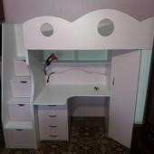 Кровать- чердак с письменным столом. Николаев. Кредит